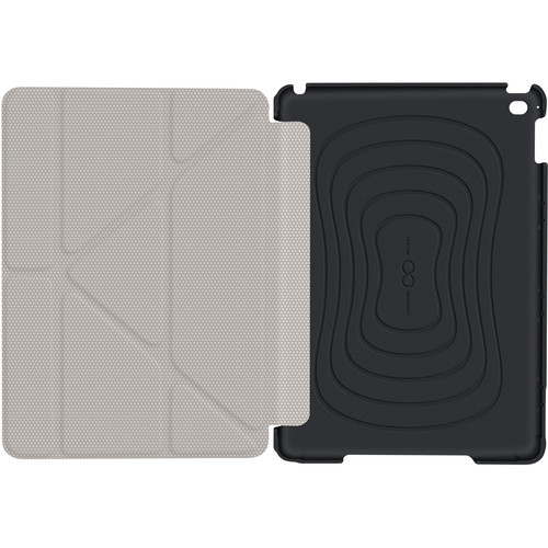 rooCASE Origami 3D Slim Shell Case for iPad Air 2 (Granite Black/Cool Gray)
