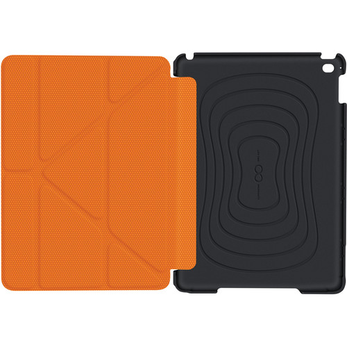 rooCASE Origami 3D Slim Shell Case for iPad Air 2 (Granite Black/Orange)