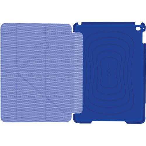 rooCASE Origami 3D Slim Shell Case for iPad Air 2 (Palatinate Blue/Aruba Blue)