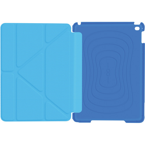rooCASE Origami 3D Slim Shell Case for iPad Air 2 (Pacific Blue/Barbados Blue)