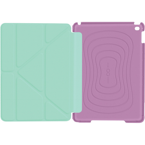 rooCASE Origami 3D Slim Shell Case for iPad Air 2 (Radiant Orchid/Mint Candy)