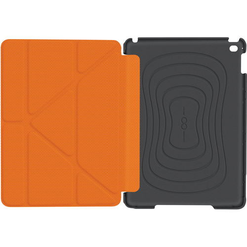 rooCASE Origami 3D Slim Shell Case for iPad Air 2 (Space Gray/Orange)