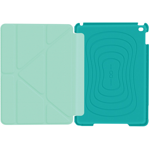 rooCASE Origami 3D Slim Shell Case for iPad Air 2 (Turquoise Blue/Mint Candy)