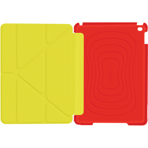 rooCASE Origami 3D Slim Shell Case for iPad Air 2 (Red/Tangerine Yellow)