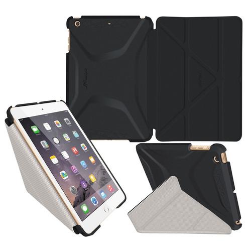 rooCASE Origami 3D Case for Apple iPad mini 1/2/3 (Granite Black / Cool Gray)