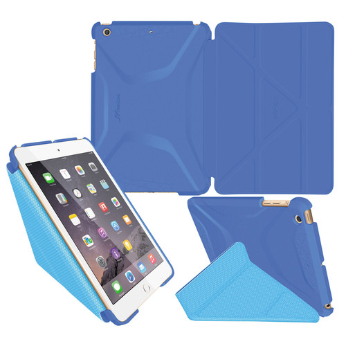 rooCASE Origami 3D Case for Apple iPad mini 1/2/3 (Pacific Blue/Barbados Blue)