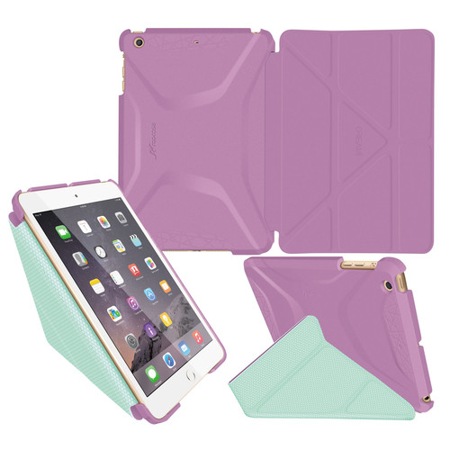 rooCASE Origami 3D Case for Apple iPad mini 1/2/3 (Radiant Orchid/Mint Candy)