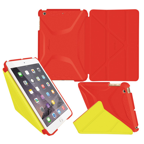 rooCASE Origami 3D Case for Apple iPad mini 1/2/3 (Red/Tangerine)