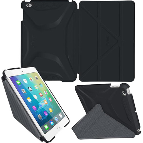 rooCASE Origami 3D Case for Apple iPad mini 4 (2015) (Granite Black/Gunmetal Gray)