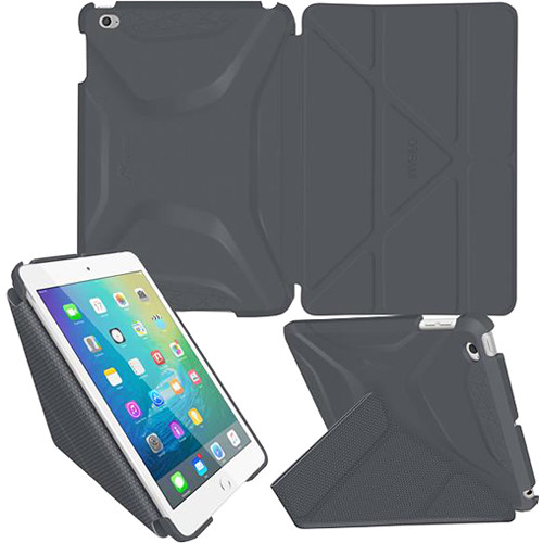 rooCASE Origami 3D Case for Apple iPad mini 4 (2015) (Space Gray/Gunmetal Gray)