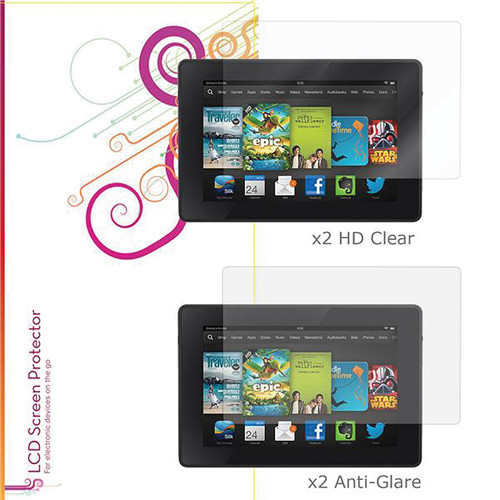 "rooCASE HD Clear and Anti-Glare Screen Protectors for Kindle Fire HD, 7"" (4-Pack)"