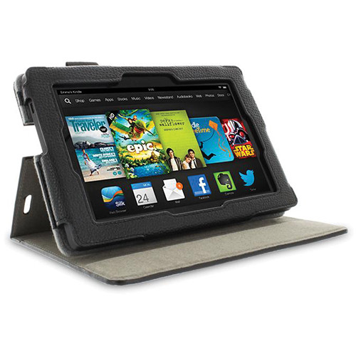 "rooCASE Dual View Folio Case Cover for Amazon Kindle Fire HD 7"" (2013 Ed.) (Black)"