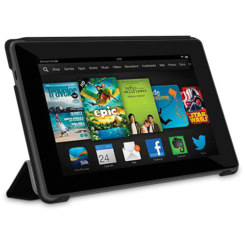 "rooCASE Origami Slim Shell Case for Kindle Fire HD 7"" Tablet (Black)"
