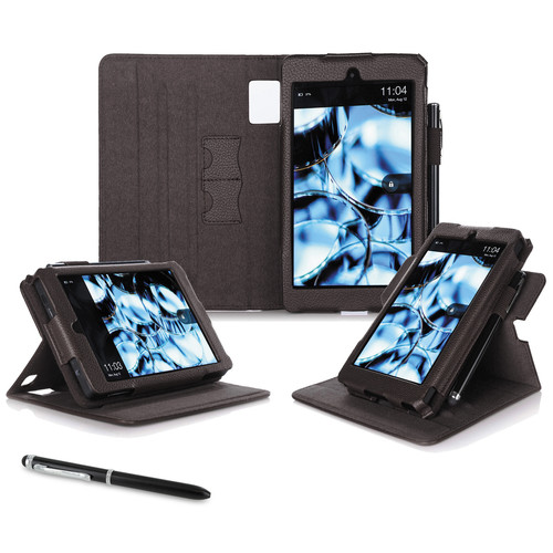 """rooCASE Dual View Folio Case Cover for Amazon Kindle Fire HD 6"""" (2014 Ed.) (Brown)"""