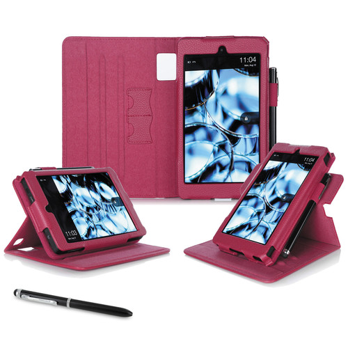 "rooCASE Dual View Folio Case Cover for Amazon Kindle Fire HD 6"" (2014 Ed.) (Magenta)"