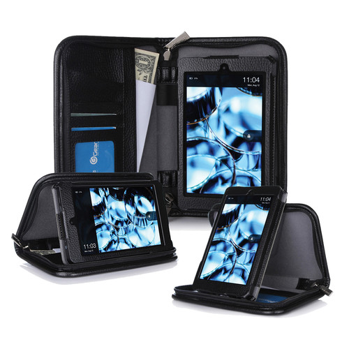 "rooCASE Executive Portfolio Case for Amazon Kindle Fire HD 6"" (2014 Edition) (Black)"