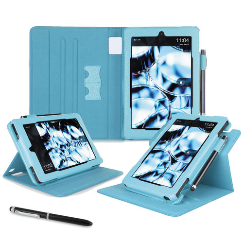 """rooCASE Dual View Folio Case Cover for Amazon Kindle Fire HD 7"""" (2014 Ed.) (Blue)"""