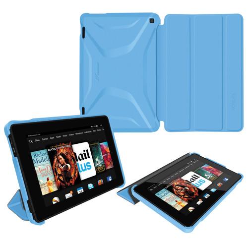 rooCASE Optigon Slim Shell Folio Case Cover for Amazon Fire 2014 HD 7 (Blue)