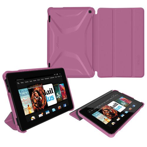 rooCASE Optigon Slim Shell Folio Case Cover for Amazon Fire 2014 HD 7 (Purple)