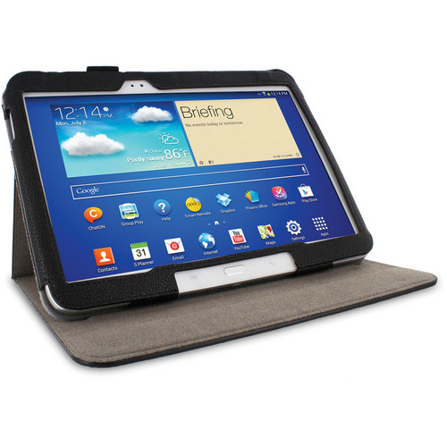 "rooCASE Dual View Folio Case Cover for Samsung Galaxy Tab 3 10.1"" (Black)"