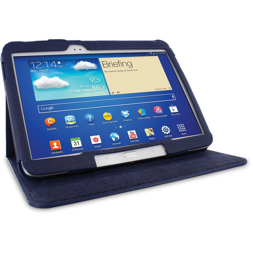 "rooCASE Dual View Folio Case Cover for Samsung Galaxy Tab 3 10.1"" (Navy)"