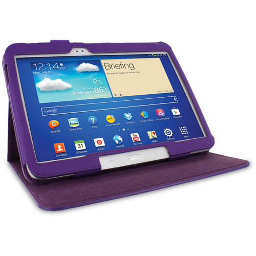 "rooCASE Dual View Folio Case Cover for Samsung Galaxy Tab 3 10.1"" (Purple)"