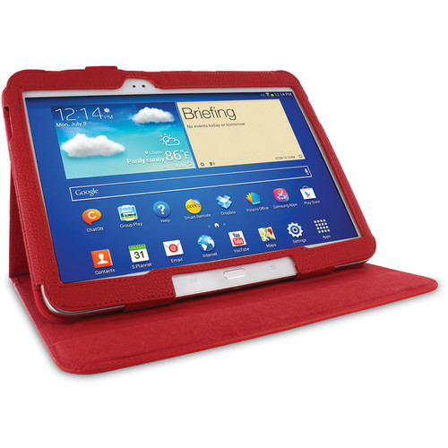 "rooCASE Dual View Folio Case Cover for Samsung Galaxy Tab 3 10.1"" (Red)"