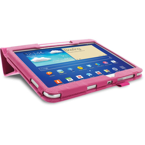 rooCASE Origami Folio Case Cover with Stylus for Samsung Galaxy Tab 3 10.1 (Magenta)