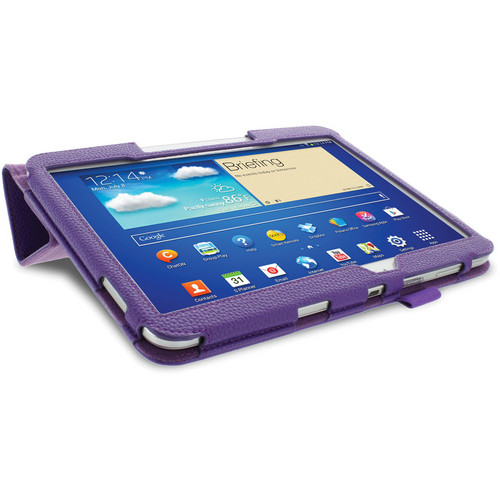 rooCASE Origami Folio Case Cover with Stylus for Samsung Galaxy Tab 3 10.1 (Purple)
