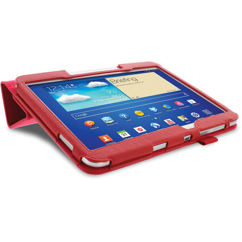 rooCASE Origami Folio Case Cover with Stylus for Samsung Galaxy Tab 3 10.1 (Red)