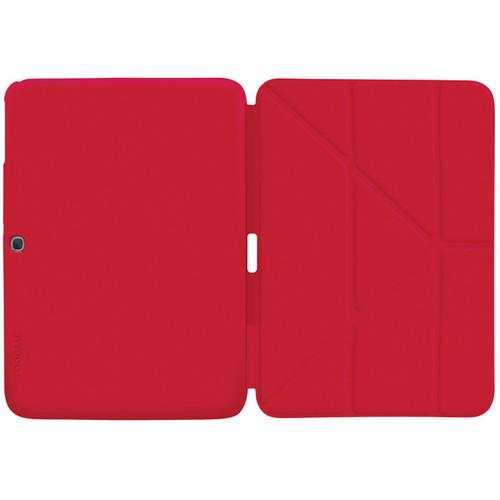 "rooCASE Origami SlimShell Case for 10.1"" Galaxy Tab 3 (Red)"