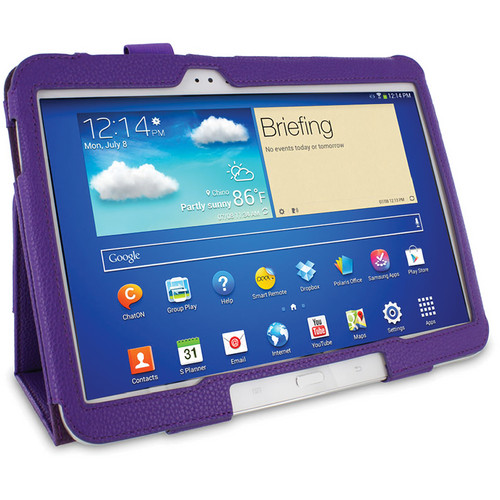 rooCASE Dual Station Folio Case Cover with Stylus for Samsung Galaxy Tab 3 10.1 (Purple)