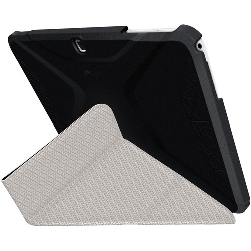 rooCASE Origami 3D Slim Shell Folio Case Cover for Samsung Galaxy Tab 4 10.1 (Granite Black / Cool Gray)
