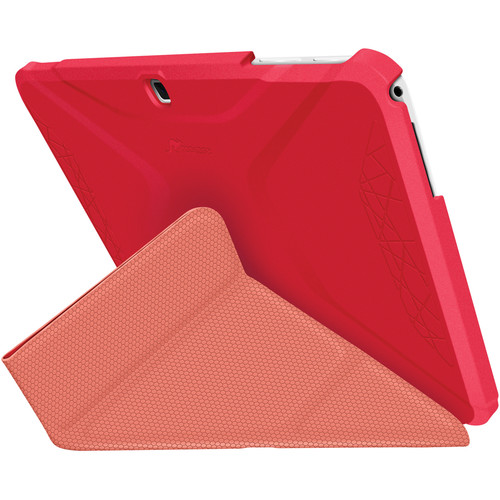 rooCASE Origami 3D Slim Shell Folio Case Cover for Samsung Galaxy Tab 4 10.1 (Persian Rose / Ruddy Pink)