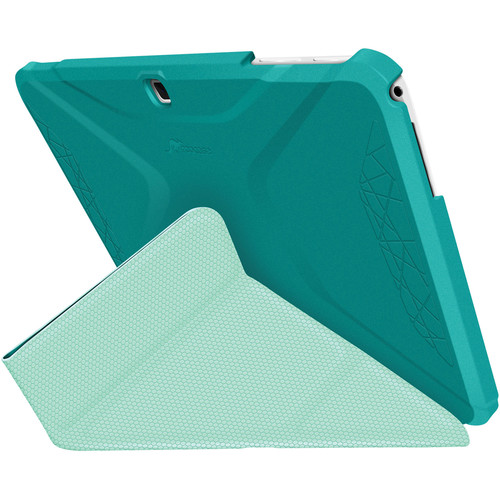rooCASE Origami 3D Slim Shell Folio Case Cover for Samsung Galaxy Tab 4 10.1 (Turquoise Blue / Mint Candy)