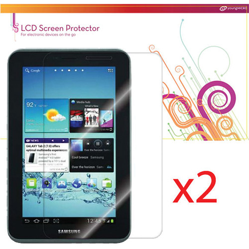 """rooCASE 4-Pack (2 Anti-Glare, 2 HD Clear) Screen Protectors for Samsung Galaxy Tab 2 7"""" Tablet"""
