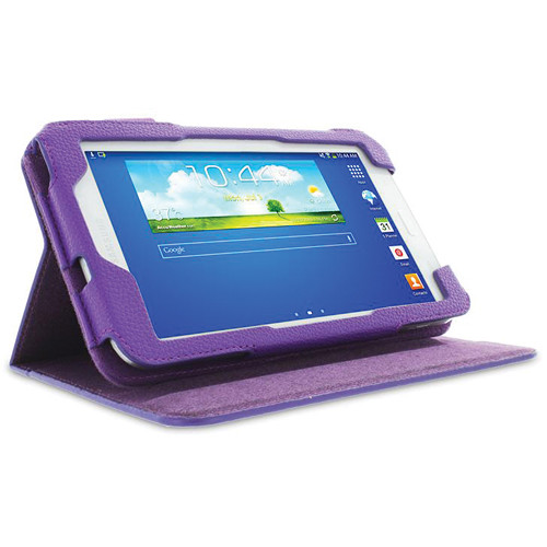 "rooCASE Dual View Folio Case Cover for Samsung Galaxy Tab 3 Lite 7"" (Purple)"