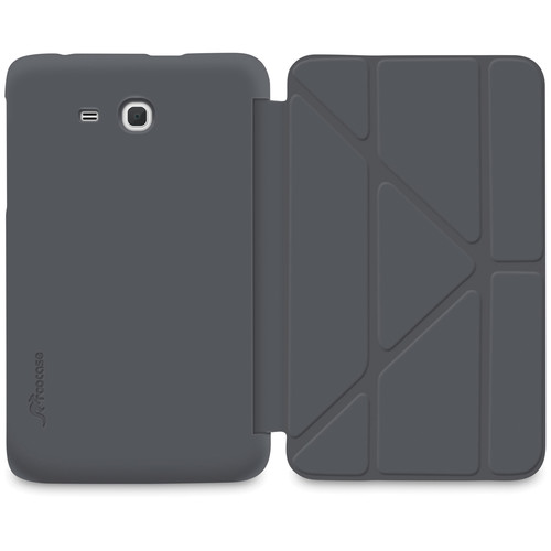 """rooCASE Slim Shell Origami Case for Samsung Galaxy Tab 3 Lite 7"""" Tablet (Gray)"""