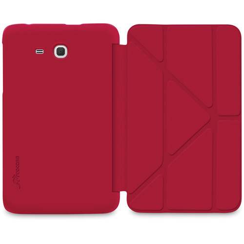 "rooCASE Slim Shell Origami Case for Samsung Galaxy Tab 3 Lite 7"" Tablet (Red)"