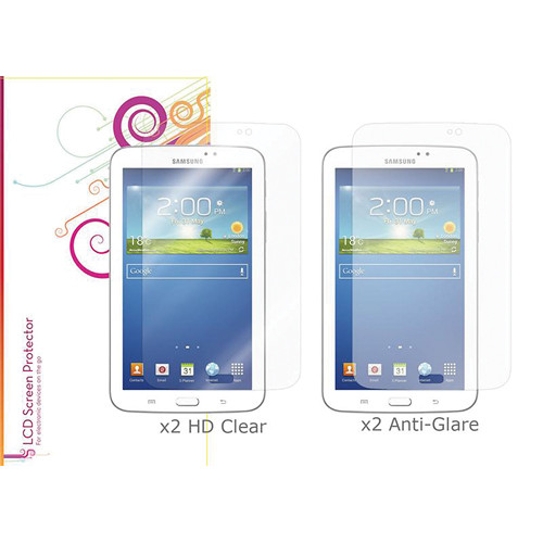 "rooCASE HD Clear and Anti-Glare Screen Protectors for Galaxy Tab 3, 7.0"" (4-Pack)"