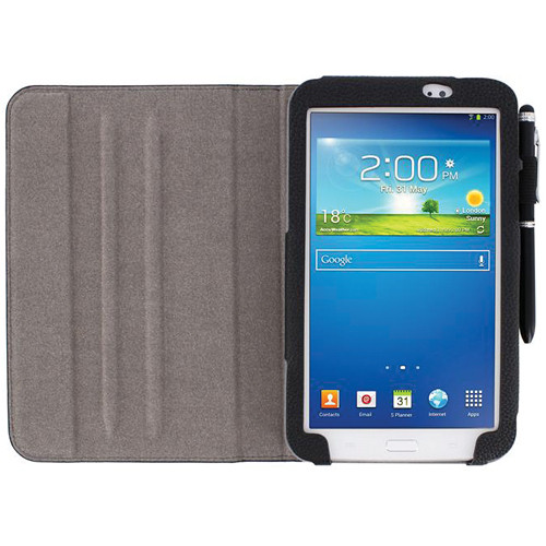 "rooCASE Dual View Folio Case Cover for Samsung Galaxy Tab 3 7.0"" (Black)"