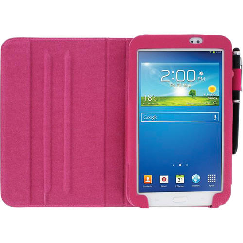 "rooCASE Dual View Folio Case Cover for Samsung Galaxy Tab 3 7.0"" (Magenta)"