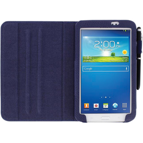 "rooCASE Dual View Folio Case Cover for Samsung Galaxy Tab 3 7.0"" (Navy)"