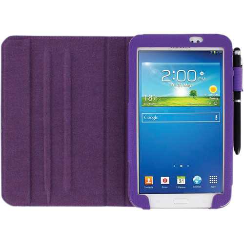 "rooCASE Dual View Folio Case Cover for Samsung Galaxy Tab 3 7.0"" (Purple)"