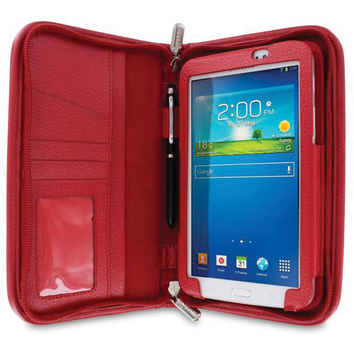 "rooCASE Executive Portfolio Case for Samsung Galaxy Tab 3 7.0"" (Red)"