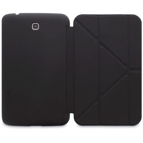 """rooCASE Origami SlimShell Case for 7"""" Galaxy Tab 3 Tablet (Black)"""