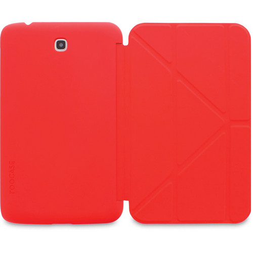 "rooCASE Origami SlimShell Case for 7"" Galaxy Tab 3 Tablet (Red)"