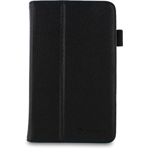 rooCASE Dual Station Vegan Leather Folio Case with Stylus for Samsung Galaxy Tab 3 7.0 (Black)