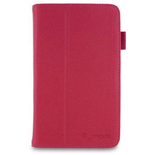 rooCASE Dual Station Vegan Leather Folio Case with Stylus for Samsung Galaxy Tab 3 7.0 (Magenta)
