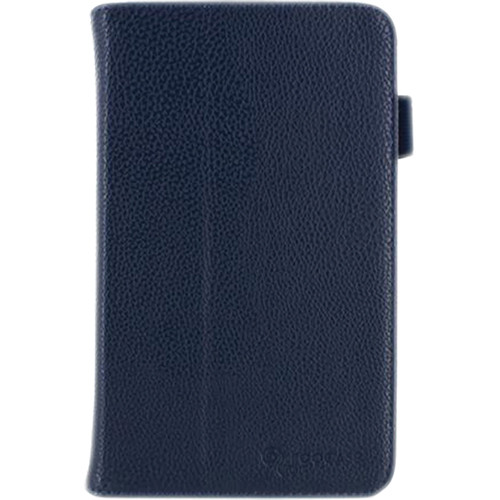 rooCASE Dual Station Vegan Leather Folio Case with Stylus for Samsung Galaxy Tab 3 7.0 (Navy)